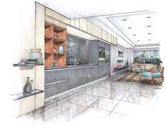 SieMatic Agate Grey Kitchen/Entertainment Center Concept
