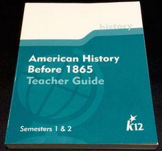 K12 American History Before 1865 Teacher Guide Semesters 1 & 2 Homeschool #WorkbookStudyGuide