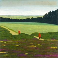 Hans Vandekerckhove (Belgian, b. 1957), Little Red Riding Hoods, 2006. Oil on canvas, 190 x 190 cm.