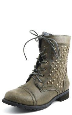 Faith Studded Side Combat Boots