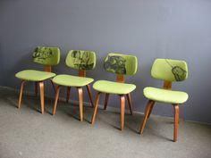 Thonet dining chairs reupholstered   via MAIYA   Mid Century Modern
