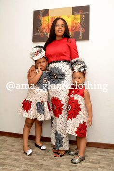 Momma and Me African Inspired Dress/ African Fashion/ African Style/ Ankara Girl Dress/ Kiddies Ankara Dress Ankara Styles For Kids, African Dresses For Kids, Latest African Fashion Dresses, African Inspired Fashion, African Print Fashion, Fashion Prints, Ankara Fashion, African Attire, African Wear