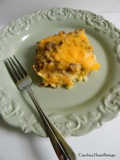 We love a good casserole at our house and since we are cooking up classic casseroles this month, the first one that came to my mind was a breakfast casserole.  We love breakfast for dinner and this delicious casserole is the perfect meal for either dinner or breakfast.  I made a smaller version, but if you are feeding a crowd, just double the ingredients and it will make a 9 x 13 inch casserole.