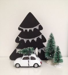 Kerst bij DITS&DOTS krijtbord kerstboom