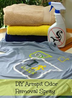 How to Remove Armpit Odor from Shirts using vinegar, baking soda, tea tree essential oil and another essential oil favorite of your choice - Suburbia Unwrapped
