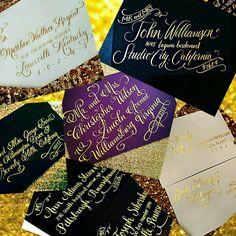 Love gold calligraphy! #weddingcalligraphy #calligraphy #weddinginspiration #weddingideas #weddinginvitation #weddingtrends #getcreative #gold #scriot #weddingplanning #nationwidecalligraphy #nationwidecalligrapher #calligraphybyjennifer