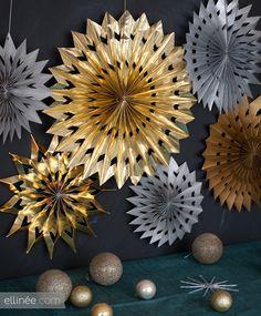 DIY Paper Medallion Stars