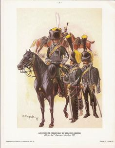 SOLDIERS- Courcelle: NAP- France: Colonel Corbineau of the 5th Chasseurs à Cheval 1803, by Patrice Courcelle.