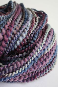 MABEL  Handspun Yarn  46 oz by Biggie on Etsy, $32.00  This yarn shares a name with my dad's girlfriend! And I like the colors!