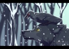 snow wolf by azzai on DeviantArt Anime Wolf, Anime Manga, Fantasy Wolf, Fantasy Art, Mythical Creatures, Fantasy Creatures, Be Wolf, Wolf Hybrid, Cartoon Wolf