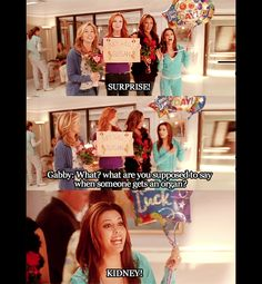 Desperate Housewives - Season 7 miss them. Tv Show Quotes, Movie Quotes, Desperate Housewives Quotes, Gabrielle Solis, Himym, How I Met Your Mother, Great Tv Shows, I Love To Laugh, Wisteria