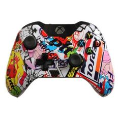 Custom Xbox One Controller with Sticker Bomb Shell