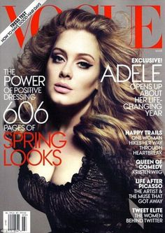 Readers of Vogue will see Adele on the March 2012 issue of the magazine