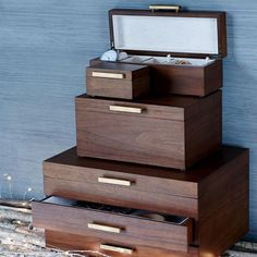 Simple, sleek and modern, this mid-century-inspired jewelry box is a dashing way to store your stuff. Jewellery Boxes, Jewellery Storage, Jewelry Organization, Jewelry Box, West Elm Mid Century, Glass Shadow Box, Pink Wedding Shoes, Street Style Shoes, Store Design