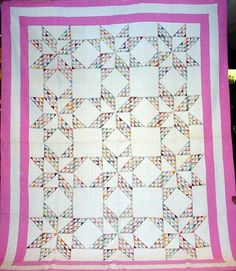 This pattern is named after the wife of President James Madison, who was quite an interesting lady if you read her biography. Dolly (Dolley) Madison's Star: love the pattern, different border color.
