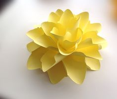 Extra Extra Large 9 inch Yellow  Paper flower by prettypackaging, $9.50