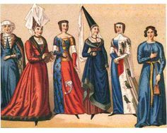 The clothing in the romanesque time period was a very simple dress that draped on the body. The colors symbolized class rank as well as their head dresses.