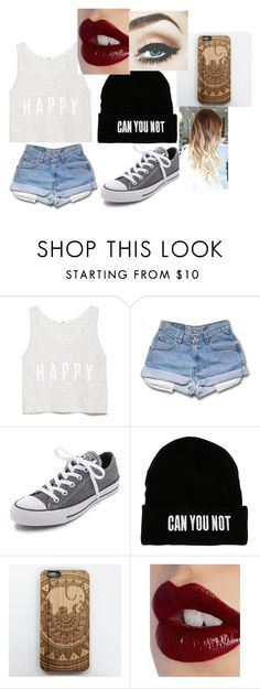 """Untitled #37"" by hannahkeyez ❤ liked on Polyvore featuring MANGO, Converse and Charlotte Tilbury"