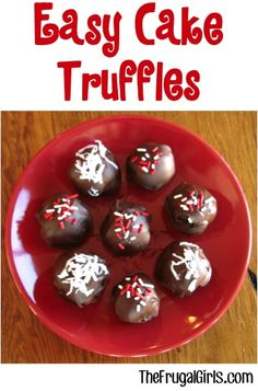Easy Cake Truffles Recipe! ~ from TheFrugalGirls.com {these tasty little treats are SO yummy + great for parties!} #thefrugalgirls