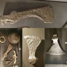4 very different styles of Viking Axes from the exhibit at Museum Center in Cincinnati. If you love The Viking age or just metal work ships or art and craftsmanship check this out. #viking #axes #museum #exhibit #art #ironwork #blacksmith (at...