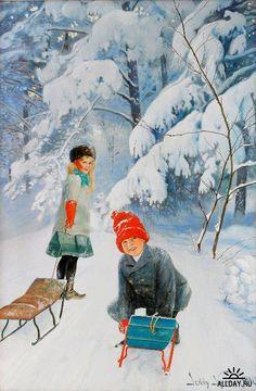 Шведская художница Jenny Nystrom (1854-1946)