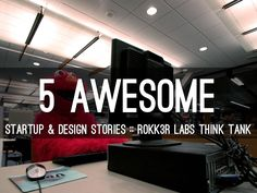 """""""5 Awesome Startup & Design Stories"""" by Rokk3r Labs features their Think Tank's favorite startup and Design stories of the week."""