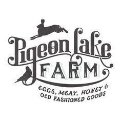 Pigeon Lake Farm Logo by Andrea Capp. (typography)