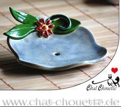 Seifenschale aus Keramik - Ablage für Seife von Chat Chouette auf DaWanda.com