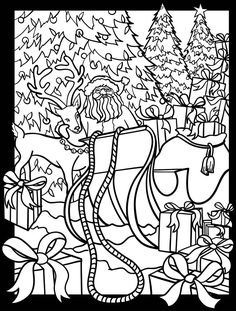 3-D Coloring Book--Here Comes Santa Claus! Dover Publications