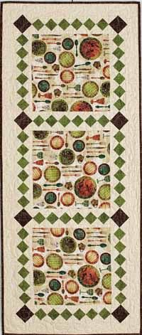 Table Runner - the pretty print in the large squares is what really makes this fun.