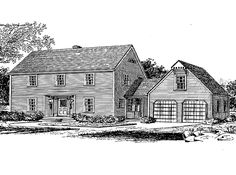Eplans Colonial House Plan - Colonial Appeal with Contemporary Floor Plan - 2272 Square Feet and 4 Bedrooms from Eplans - House Plan Code HWEPL14129
