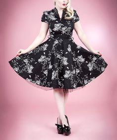 Look what I found on #zulily! Black & White Rose Shirt Dress - Women & Plus #zulilyfinds