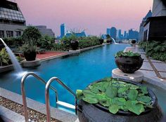We stayed here for our honeymoon, Banyan Tree Hotel, Bangkok. Amazing place.