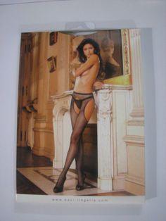 Baci Lingerie Black Fishnet Suspender Pantyhose One Size #31