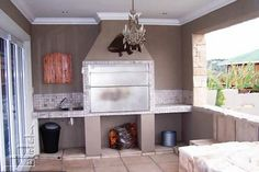 braai areas - Google Search Home Renovation, Home Remodeling, Patio Design, House Design, Patio Pictures, Man Cave Bar, Entertainment Room, Outdoor Living, Living Spaces