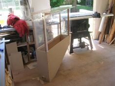 Dust cover been for miter saw - by David Dean @ LumberJocks.com ~ woodworking community