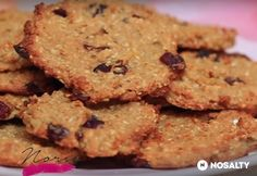Zabpelyhes-almás keksz Healthy Cookies, Healthy Desserts, Sweet Desserts, Dessert Recipes, Diabetic Recipes, Healthy Recipes, Health Eating, Crunches, I Foods