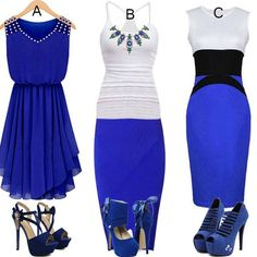 I love A,how about you ? #CasualOutfit #Dress #Shoes #Heels #Fashion #FreshLook