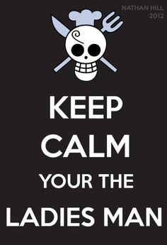 One Piece Keep Calm Sanji