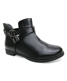 Loving this Black New Buckle Boot on #zulily! #zulilyfinds
