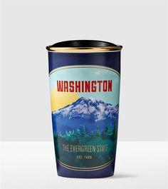Design inspired by the Northwest   Starbucks® Store - Washington State Double Wall Traveler