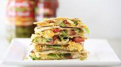 Spicy chicken quesadilla sandwich