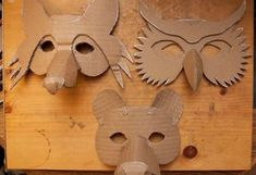 Simple Masks (Fox Owl & Bear 2019 Here is the collection of animals together now its time to mache them and put sticks on them. Please listen to this song while view these photos. The post Simple Masks (Fox Owl & Bear 2019 appeared first on Paper ideas. Projects For Kids, Diy For Kids, Art Projects, Crafts For Kids, Arts And Crafts, Preschool Crafts, Paper Mache Mask, Paper Mask, Diy Paper