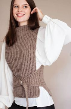 Crochet Clothes, Diy Clothes, Clothes For Women, Fashion Sewing, Crochet Fashion, Lace Knitting, Knit Crochet, Creation Couture, Knitwear