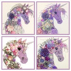 My collection of Button Art Unicorns. No 2 are ever the same, personal and unique.  Please feel free to order on my Facebook page... Always Sparkle Gifts