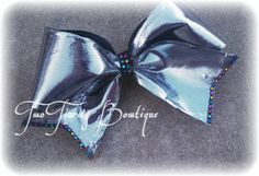 Very Shiny Cheer Bow with colorful rhinestones Team Discounts available. All star Dance by Two Tiara's Bowtique on Etsy or Facebook group