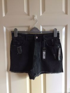 7147c21b52 Red Herring Grey High Waist Shorts Size 12 New #fashion #clothing #shoes #