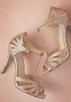 Black dress gold heels bridal