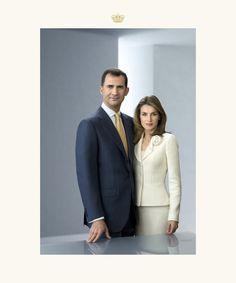 Foto oficial de los Reyes de España,Felipe VI y Letizia Ortiz.