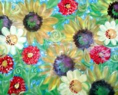 sunflowers serenade by traceymalone on Etsy. $75.00 USD, via Etsy.